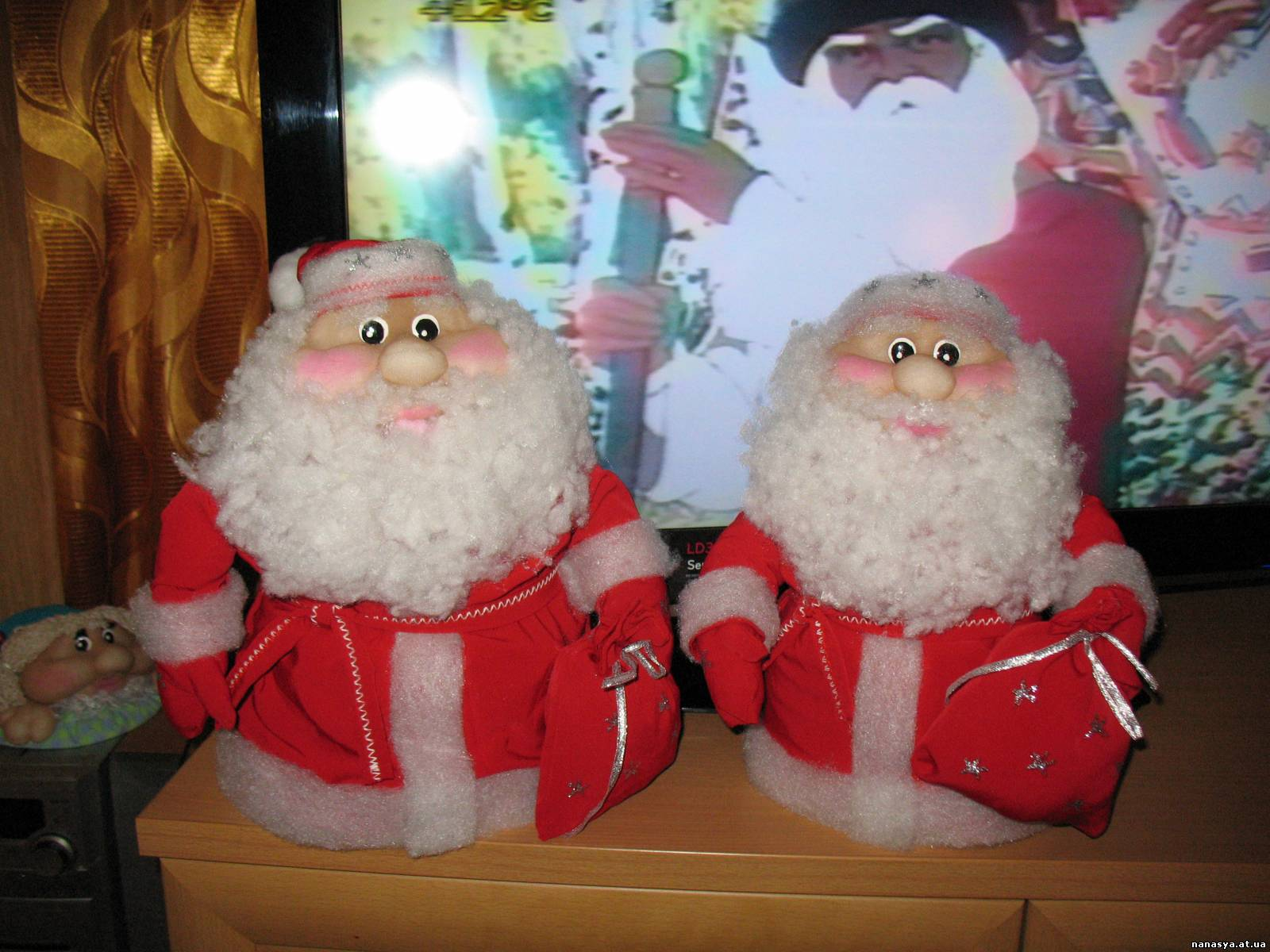 Дед мороз текстиль своими руками 846